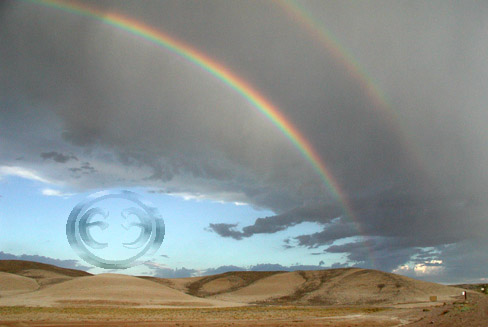 Double Desert Rainbow, All rights Reserved